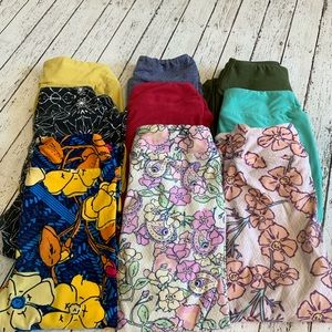 Girls 9 pairs of Lularoe leggings - L/XL